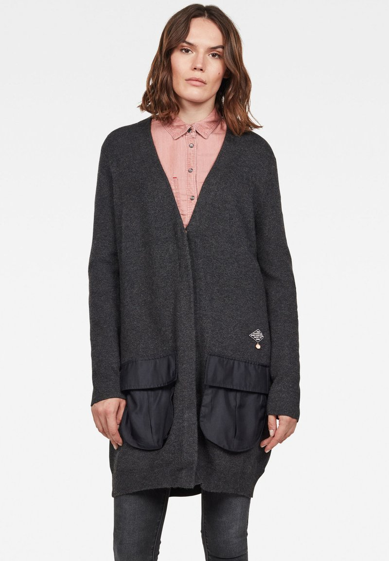 G-Star - CITY ARMOUR - Cardigan - anthracite