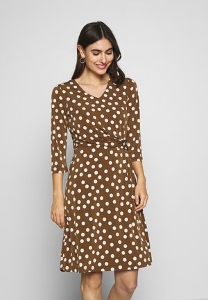 DRESS INTERLOCK - Day dress - nouga/ multicolor