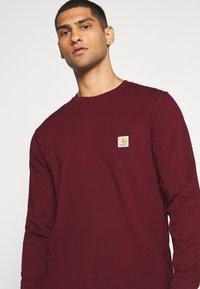 Carhartt WIP - POCKET  - Long sleeved top - bordeaux - 3