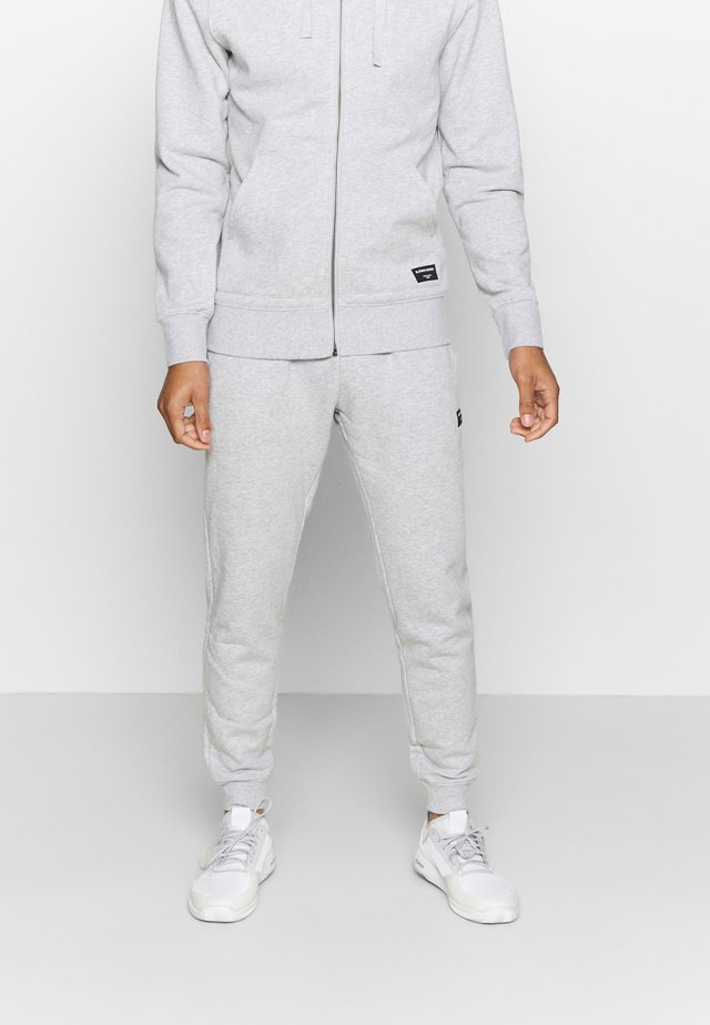 CENTRE TAPERED PANT - Tracksuit bottoms - light grey melange