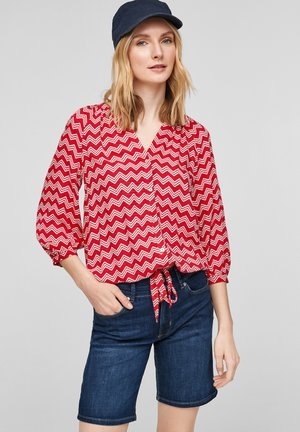 Blouse - red stripes
