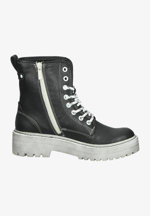 Platform ankle boots - schwarz 9