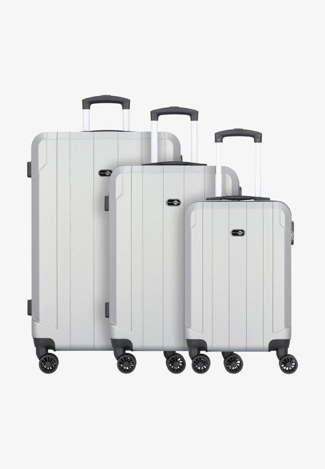 3 PIECES - Set di valigie - silver