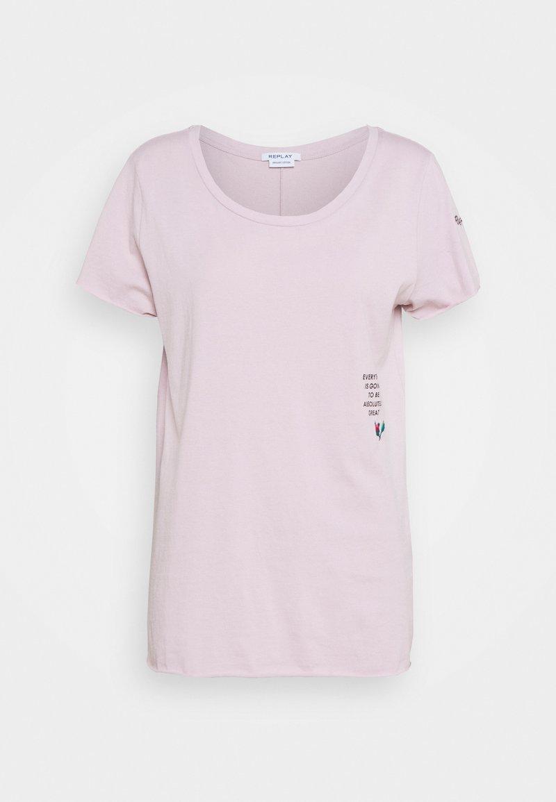 Replay - ROSE COLLECTION - Print T-shirt - quartz rose