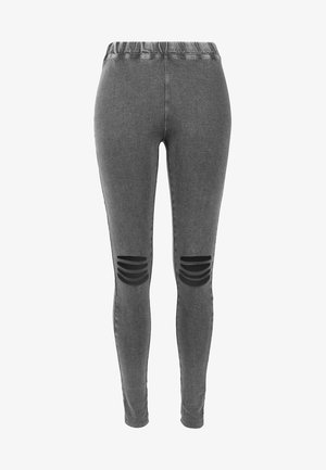 CUTTED  - Leggings - Trousers - acid black
