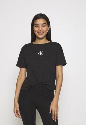 CROPPED - Koszulka do spania - black