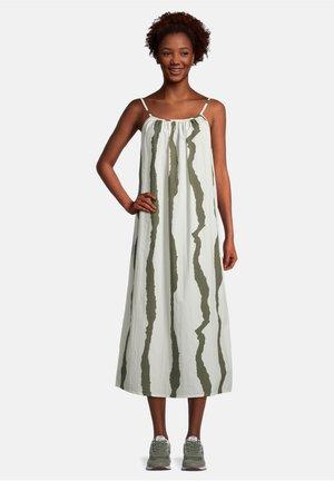 SOMMER OHNE ARM - Day dress - khaki/white