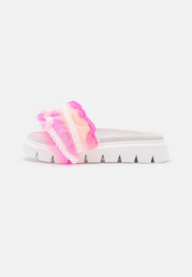 TULLE SLIDE  - Pantolette flach - pink