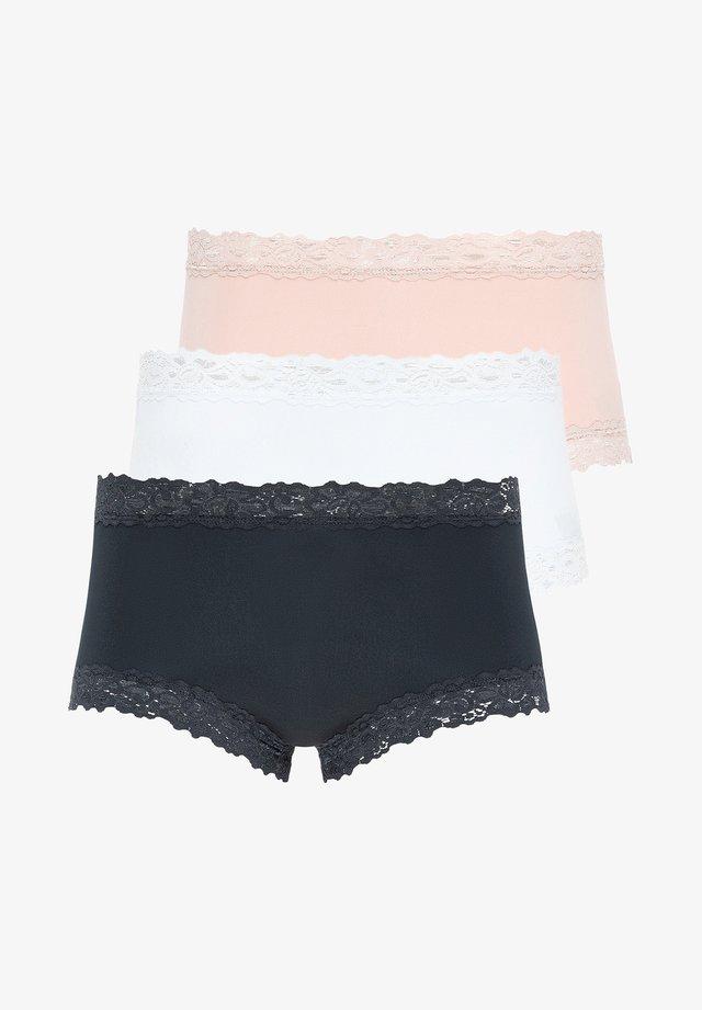 TAILLEN-SLIP 3ER PACK PARISIENNE - Pants - weiß / schwarz / dusk