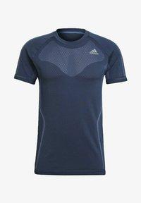 adidas Performance - T-shirts med print - blue - 4