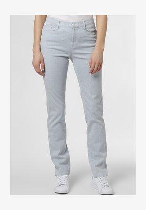 Slim fit jeans - hellblau weiß