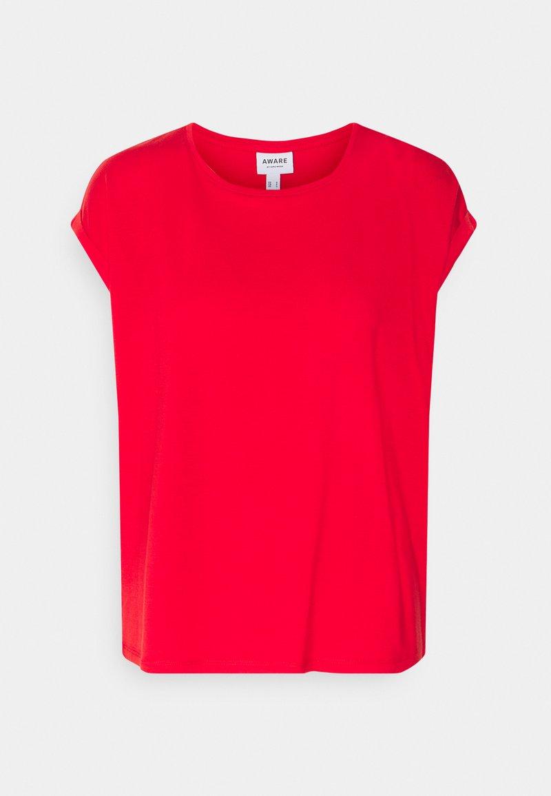 Vero Moda Petite - VMAVA PLAIN - Basic T-shirt - goji berry