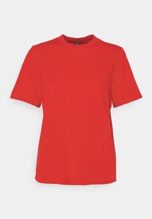 SARITA O NECK TEE - Basic T-shirt - high risk red