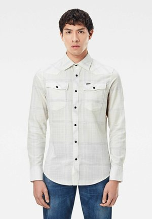 3301 SLIM - Shirt - milk ethan check