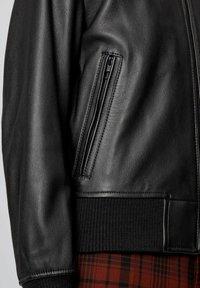 BOSS - NAITRO - Veste en cuir - black - 5