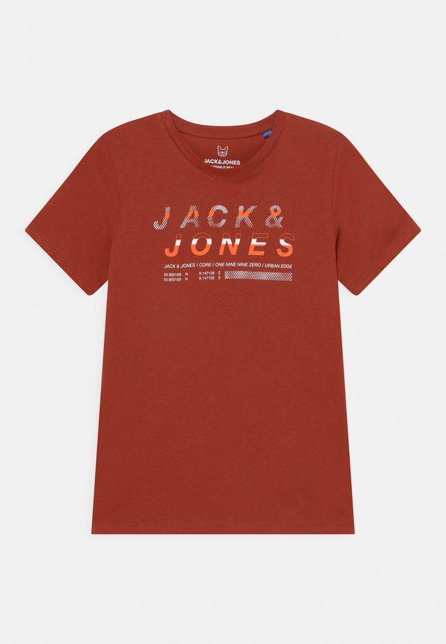JCOBOOSTER CREW NECK  - T-shirt imprimé - red ochre