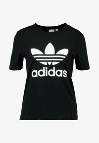 adidas Originals - ADICOLOR TREFOIL GRAPHIC TEE - T-shirt con stampa - black - 3
