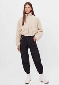 Bershka - Fleece jacket - stone - 1