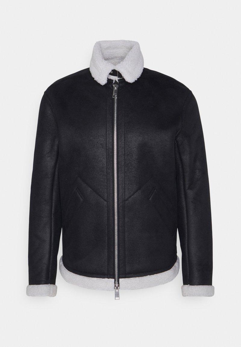 Armani Exchange - BLOUSON JACKET - Giacca in similpelle - black/white