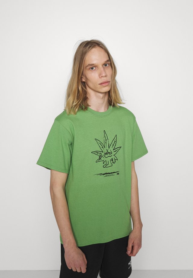 EASY GREEN TEE - T-shirt med print - dill green