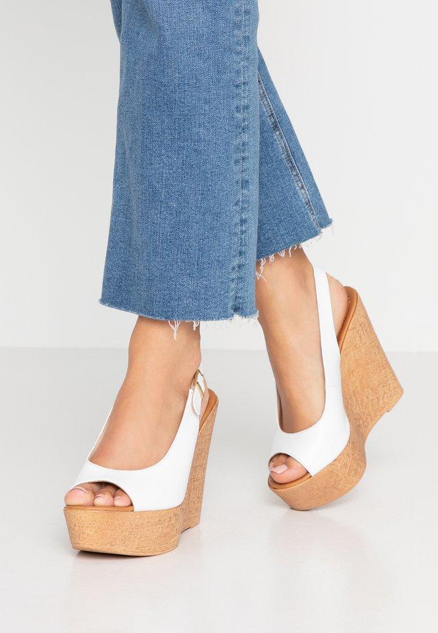 IBIZA - High heeled sandals - bianco