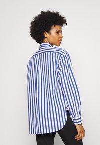 Polo Ralph Lauren - LONG SLEEVE - Button-down blouse - white/medium blue - 2