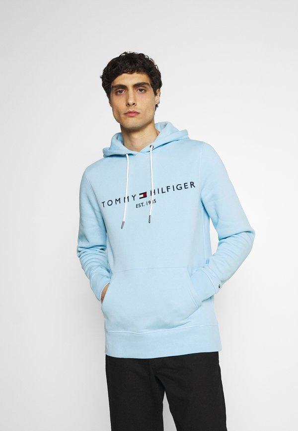 Tommy Hilfiger LOGO HOODY - Bluza z kapturem - blue/niebieski Odzież Męska LBFG