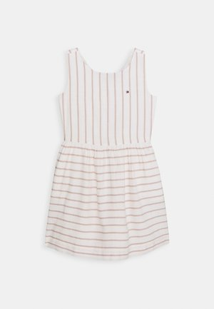 FLURO FINE STRIPE DRESS - Korte jurk - white