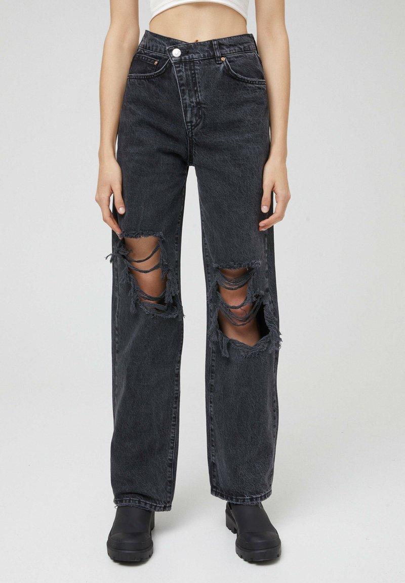 PULL&BEAR - Jeans a sigaretta - black