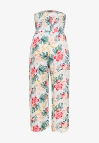 Dorothy Perkins - TROPICAL SHIRRED - Jumpsuit - ivory - 1