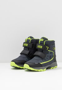 LICO - AINO - Winter boots - marine/schwarz/lemon - 3