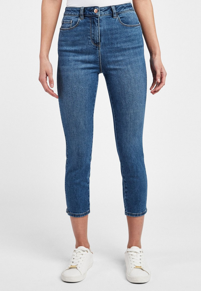 Next - Jeansy Skinny Fit - mottled blue