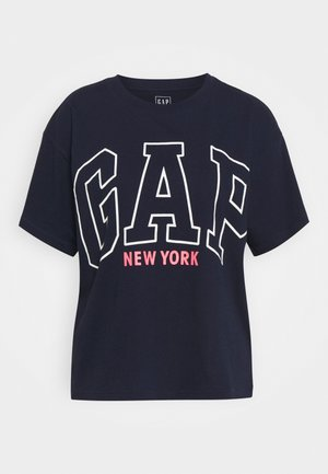 EASY TEE - Print T-shirt - navy uniform