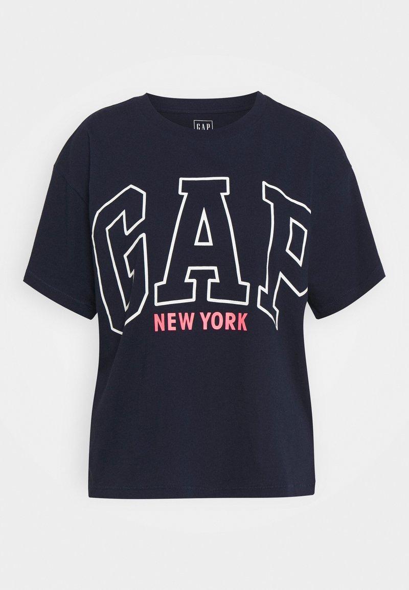 GAP - EASY TEE - Print T-shirt - navy uniform