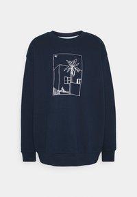adidas Originals - GRAPHIC CREW - Sweatshirt - collegiate navy - 4