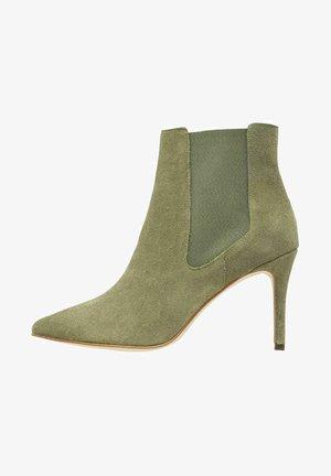 BIADANGER CHELSEA - High heeled ankle boots - palegreen