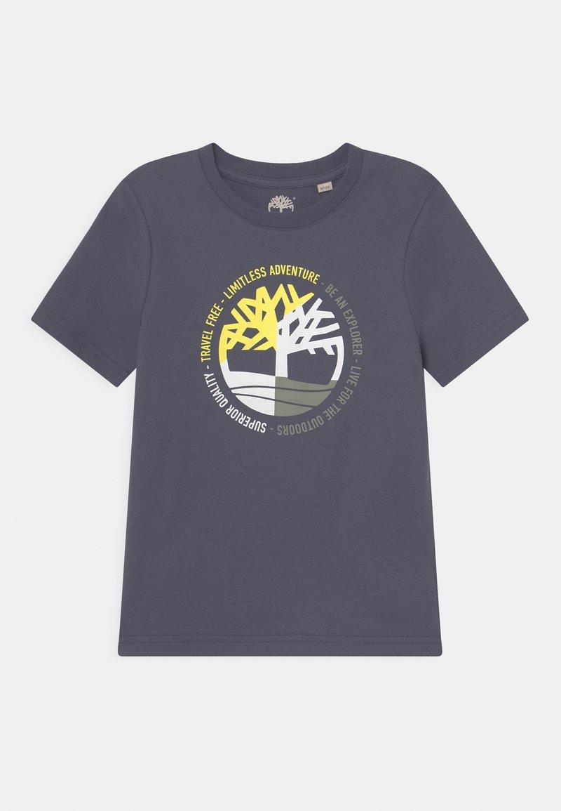 Timberland - SHORT SLEEVES - T-shirt con stampa - medium grey