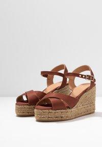 Castañer - BLAUDELL - Sandály na vysokém podpatku - marron - 4