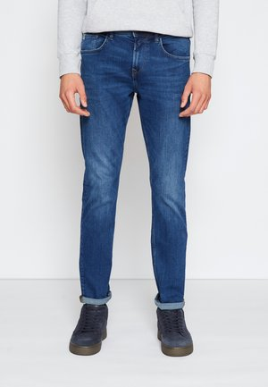 SLIM PIERS - Jean slim - used mid stone blue denim
