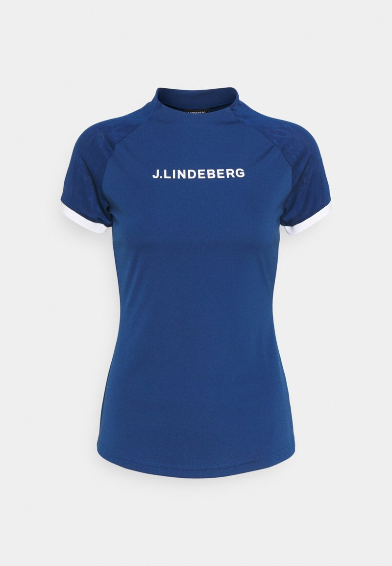 J.LINDEBERG - MEGAN GOLF  - Print T-shirt - midnight blue