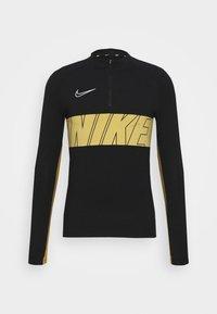 Nike Performance - DRY ACADEMY - Tekninen urheilupaita - black/jersey gold/white - 4