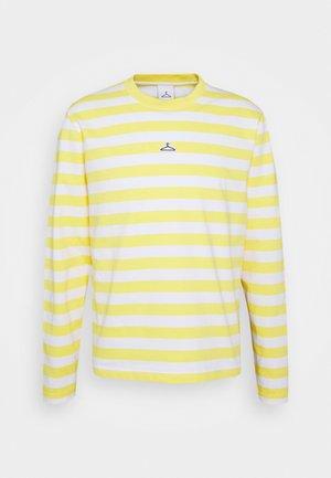 HANGER STRIPED LONGSLEEVE UNISEX - Long sleeved top - yellow/white