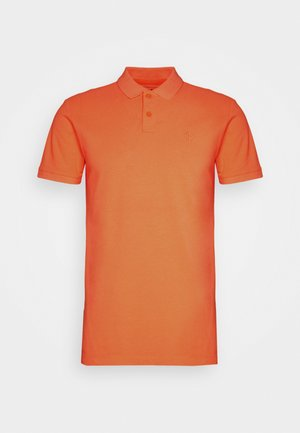 WITH SMALL EMBROIDERY - Polo shirt - orange neon