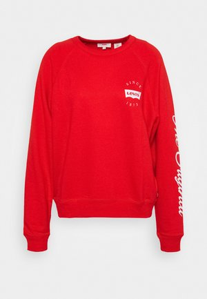 GRAPHIC EVERYDAY CREW - Mikina - poppy red