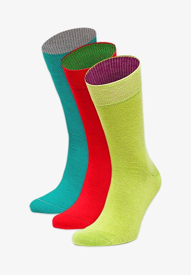 3PACK - Socks - blau,rot,grün
