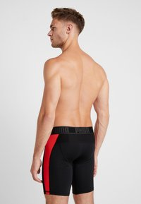 Puma - ACTIVE LONG BOXER PACKED - Panties - black/red - 2