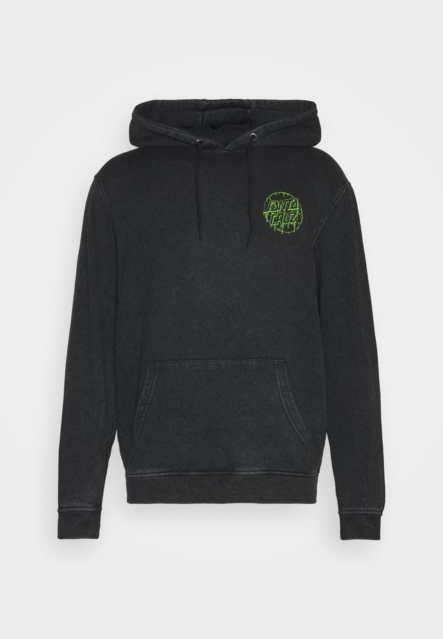EXCLUSIVE TOXIC DOT HOODIE UNISEX - Sweatshirt - black