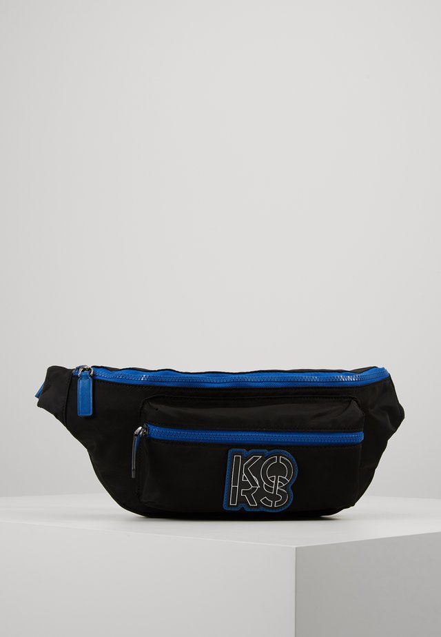 BROOKLYN HIP BAG - Vyölaukku - black/atla blue