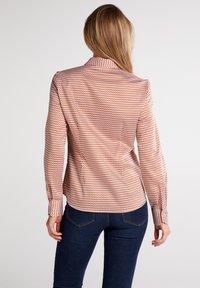 Eterna - MODERN CLASSIC - Button-down blouse - braun/weiß - 1