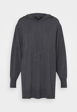 HIGH SLIT HOODIE - Svetr - medium heather grey